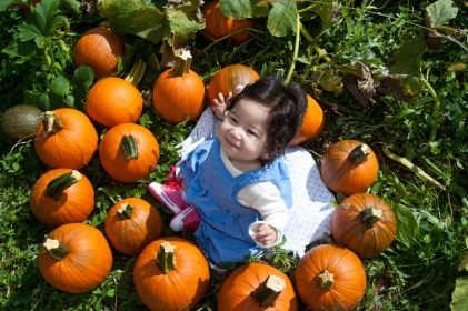 Scarlett at the Pumpkin Patch