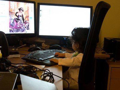 Using Daddy's Computer