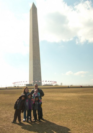 Everyone at Washington Monument