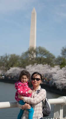 Scarlett and Danielle at the Cherry Blossom Festival