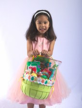 Scarlett and her Easter Basket
