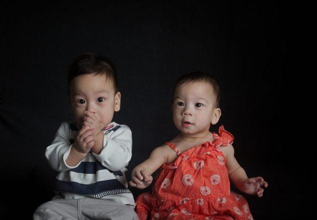 Sam and Stella at 7 Months