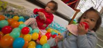 Chilling in the Ball Pit.