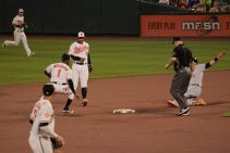 Sliding in to second