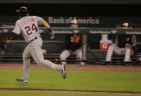 Cabrera is off!