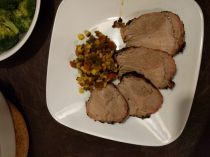 Grilled Tenderloin with Spicy Corn relish