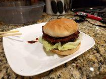 Texas BBQ sauce burger