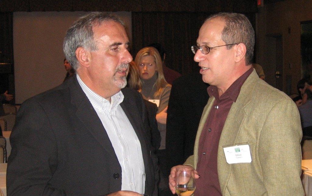 Tony Sapienza (left) with Mike Spataro.
