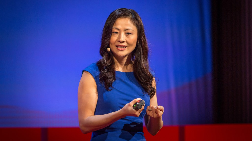 Inhi Cho Suh speaking at TED@IBM at SFJAZZ, San Francisco, California, September 23, 2014. Photo: Marla Aufmuth/TED