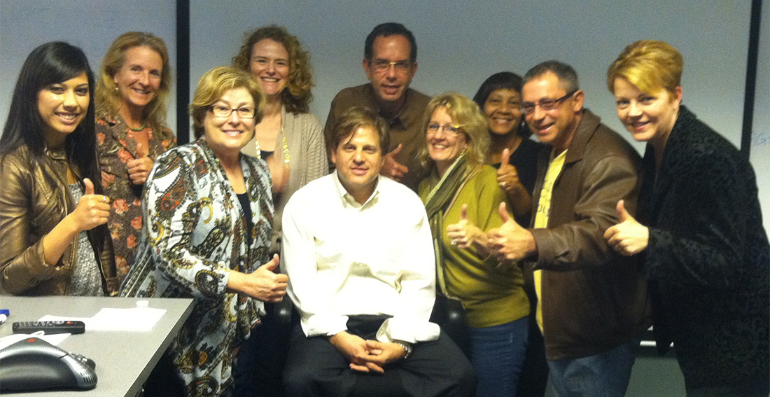 I led digital marketing training seminars worldwide for over a decade. This is at the close of a session in Chicago.