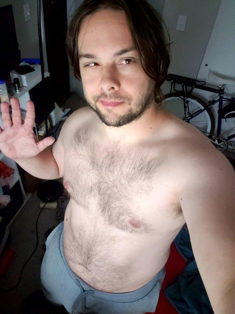 eric shay Howard's shirtless gay thirst-trap photo