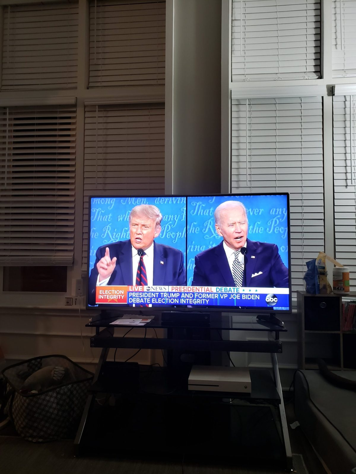 First 2020 Presidential Debate TV Snapshot