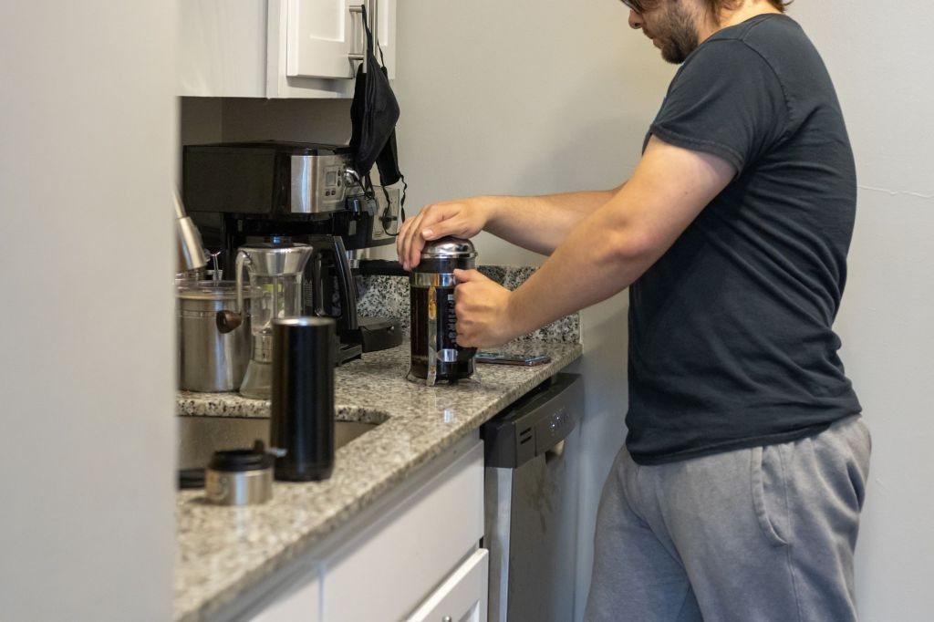 eric shay howard using french press