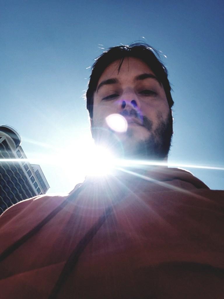 Eric Shay Howard in sun flare
