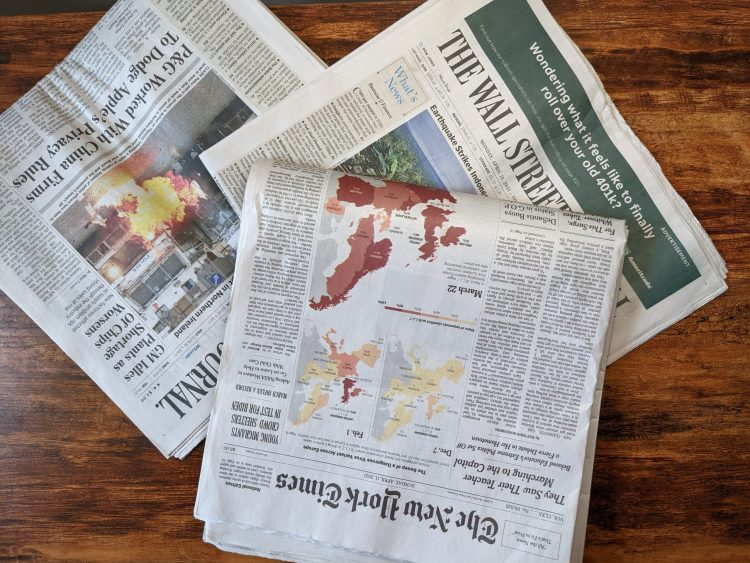 The New York Times and The Wall Street journal
