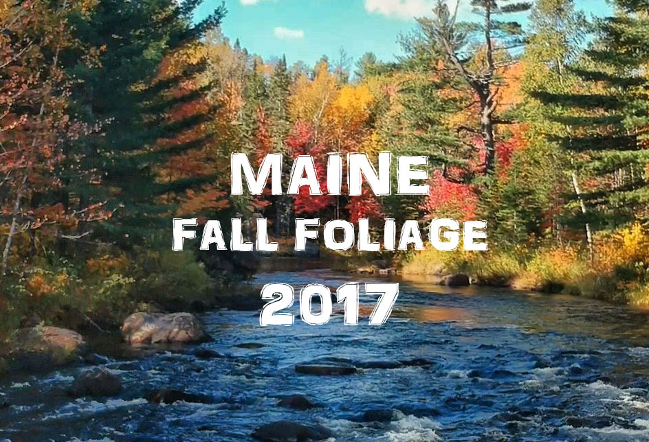 Maine Fall Foliage 2017 Drone Video