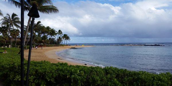 Po'ipu Beach from Marriott Waiohai Beach Club