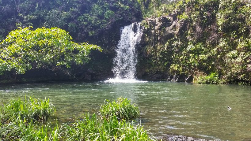 One of the many waterfalls along the road to Hana