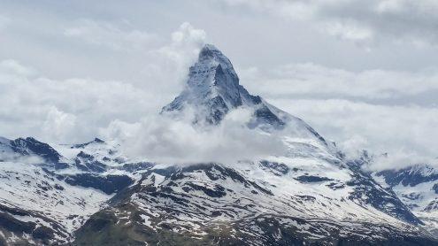 Matterhorn peaking through the clouds