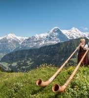 Alphorn Players at Schynige-Platte