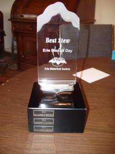 Erie Biscuit Day Stew Contest Trophy