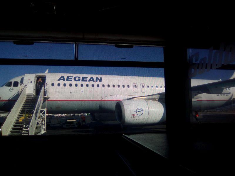 Abschiedstour mit Aegean Airlines -Hinflug-