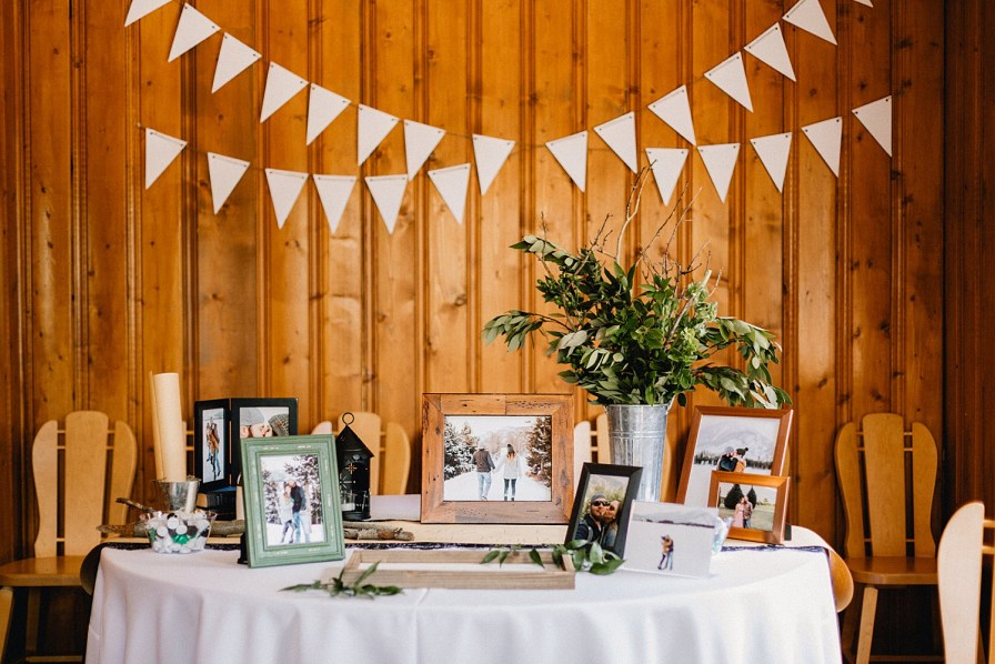 boho styled wedding welcome table
