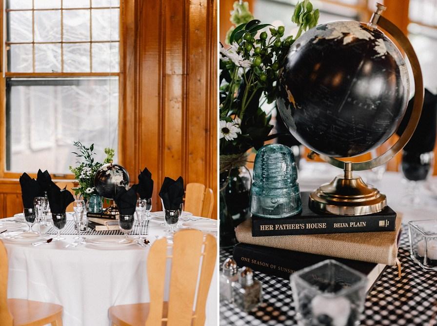 globe wedding centerpieces