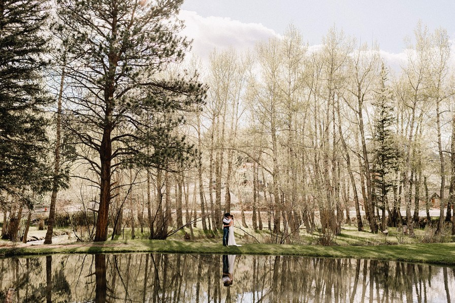 water reflections at Black Canyon Inn wedding