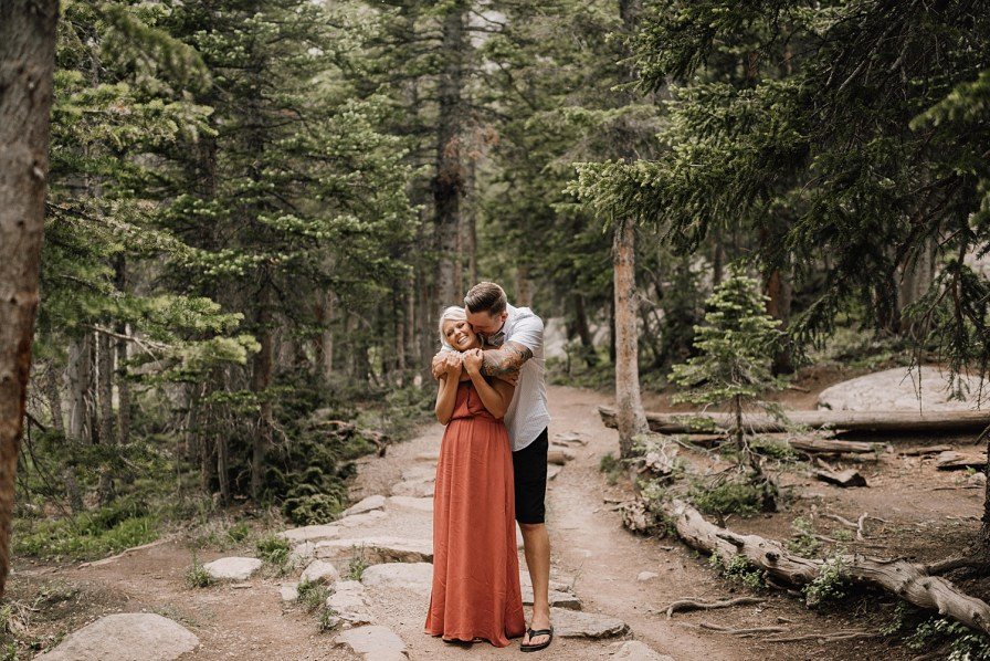 rmnp engagement at Dream Lake