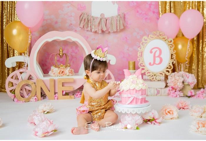 Cake Smash Princess Photo Session The Bronx Studio Erika Rosales
