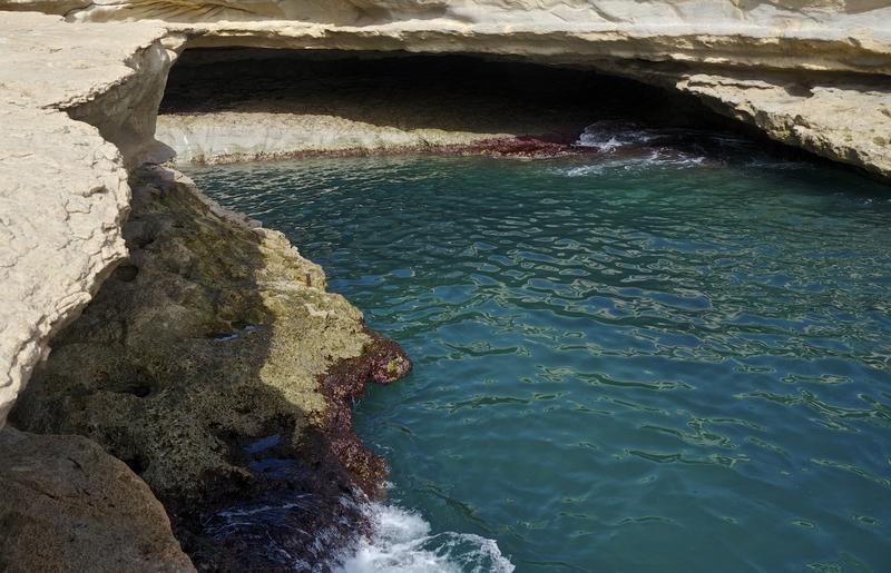 St Peter's Pool near Marxaslokk, Malta