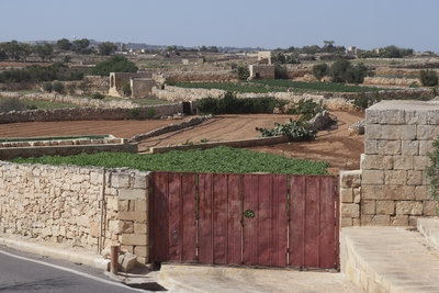 Farmland and arid countryside, southern Malta