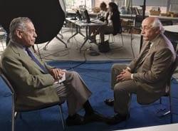 Photo: President Samuel J. Meisels and 60 Minutes host Morley Safer