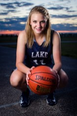 Basketball senior photo