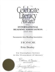 International Reading Association award