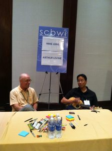 Arthur Levine and Mike Jung at SCBWI.