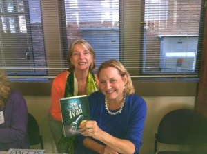 Yes that's ME with THE ONE AND ONLY IVAN and Katherine Applegate--no biggie...