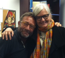Portis and her editor Neal Porter of Neal Porter Books. Roaring Brook/Macmillan