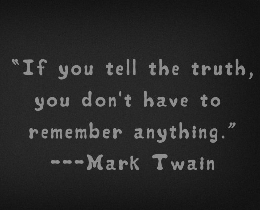 Mark Twain on Telling the Truth