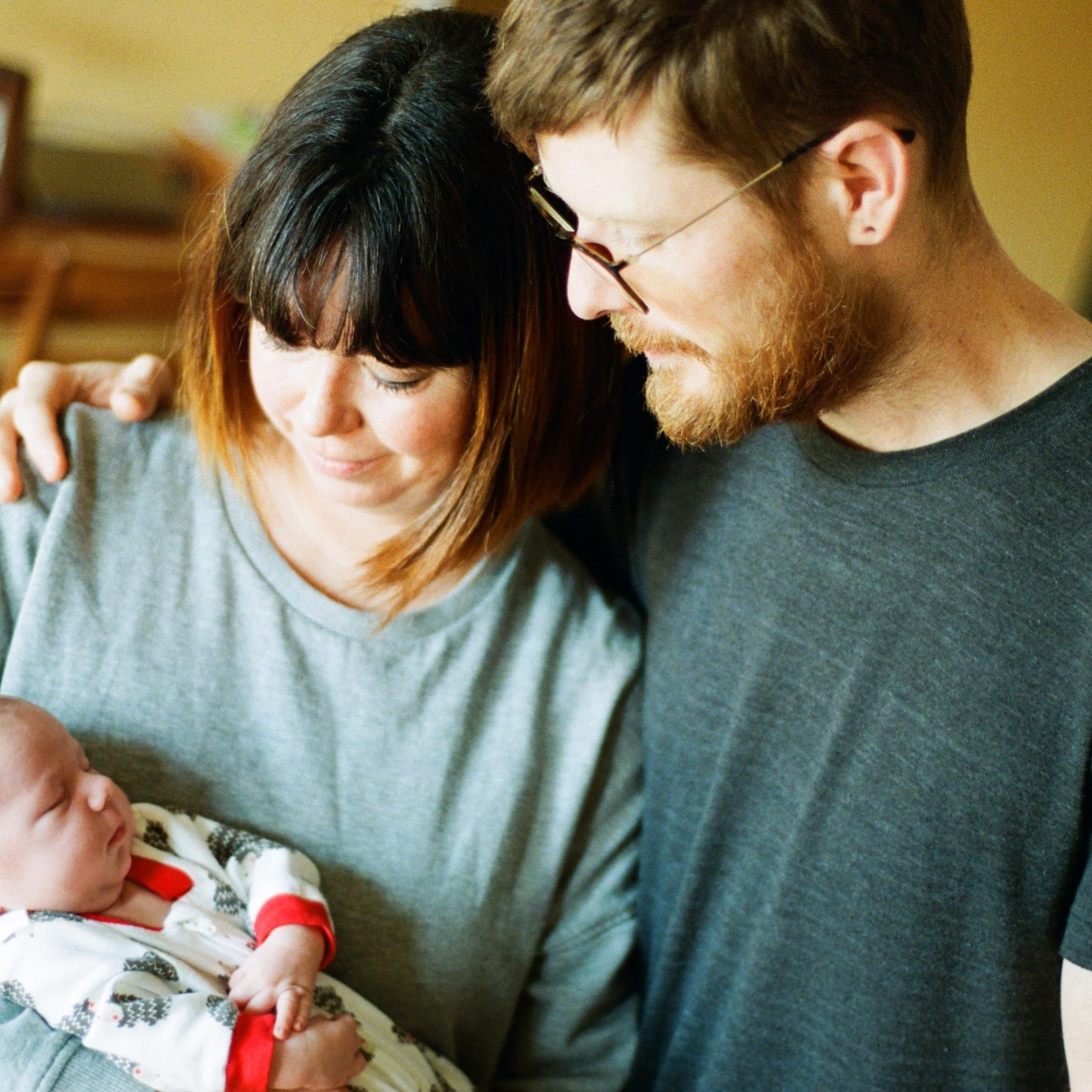 Vancouver newborn session, two parents and baby