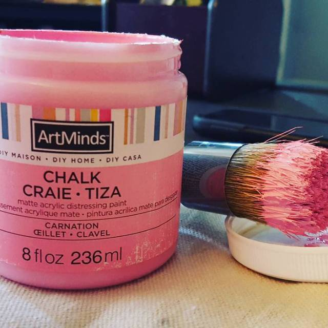 Working on another fun chalk paint project today but itshellip