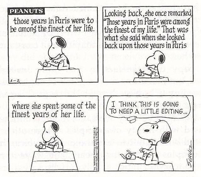 Comic: Snoopy needs editing