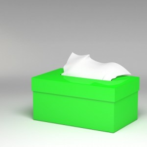 3D Green Tissue Box Stock Art