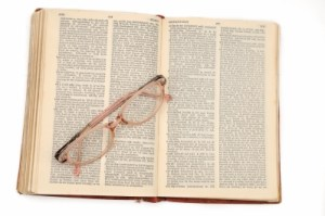 Opened Dictionary Stock Photo