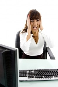 Business Lady Frustrated Stock Photo