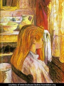 Painting: A woman at the Window by Henri de Troulouse-Lautrec