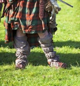 Leg Of Medieval Scottish Warrior Stock Photo
