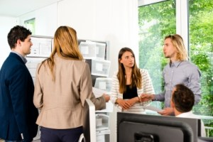 Business Conversation Stock Photo