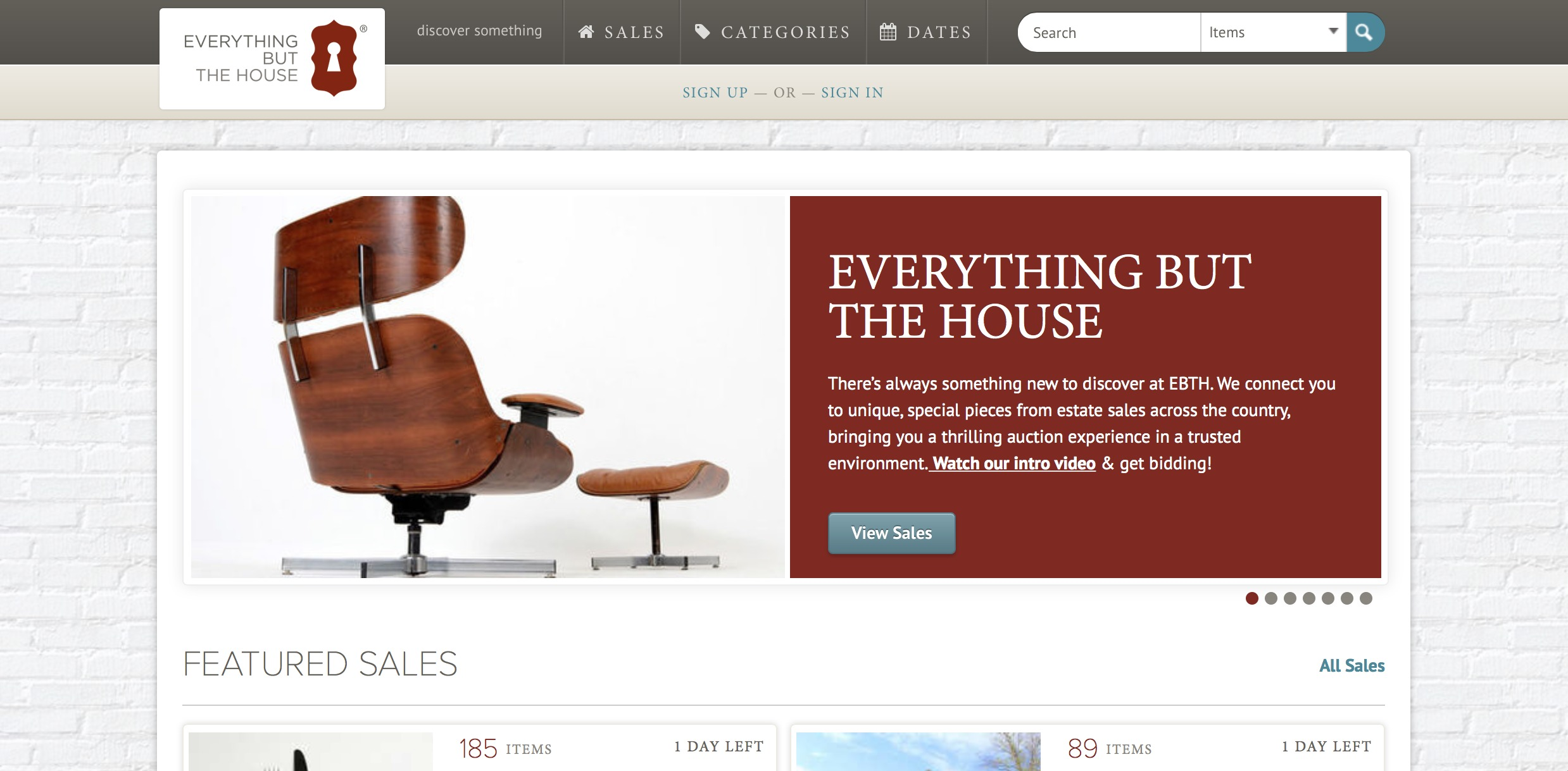 Everything But The House Online Estate Sale Site A
